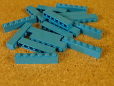 Lego City Castle 16 x Dark Azure Brick 1 x 6   NEW