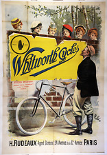 Whitworth Cycles Original Vintage Bicycle Poster - Cycling - PAL
