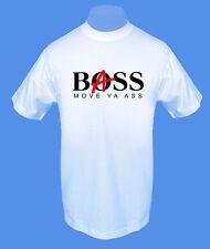 Männer Herren T-Shirt Bass Boss Musik bedruckt move2be S M weiß