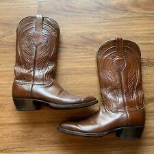 Mens Lucchese Classics L6609 Seville Cowboy Western Goat Leather Boots SZ 10.5B