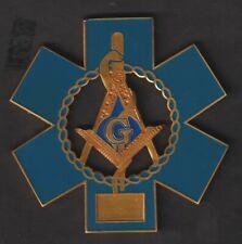 """Masonic Medical EMT Metal Car Emblem 3"""""""