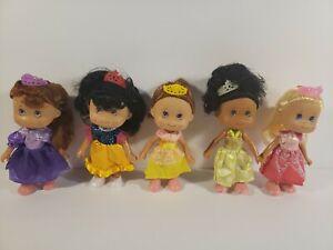 "Lot Of 5 New Princess Dolls W/ Original Outfits 5"""