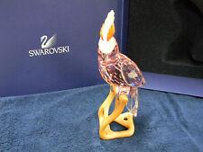 Swarovski Crystal Para 00004000 Dise Cockatoo Bird Red Figurine New In Box 718565 Retired