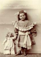 Antique Photo... Young Girl Holding Doll Victorian Era ... Photo Print 5x7