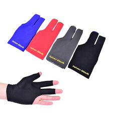 Blue Spandex Snooker Billiard Cue Glove Pool Left Hand Three Finger Accessory fg