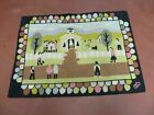 2' X 3' Vintage Hand Tufted Children Playing Hooked Rug Wool Nice