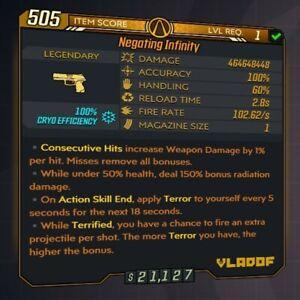 Borderlands 3 [MODDED Infinity Pistol] 400+ million damage! [All Platforms]
