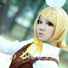 TT1008 Vocaloid Kagamine Rin Short Blonde Cosplay Hair Full Wig