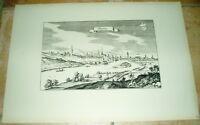 Kitzingen: alte Ansicht Merian Druck Bannstaedte 1940 Städteansicht Panorama
