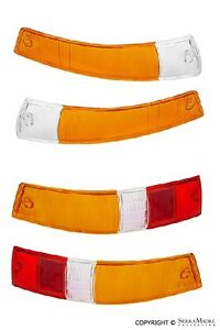 Turn Signal & Taillight Lens Set, Euro, Porsche 911/912 (65-68)