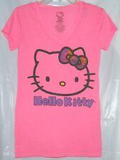 Hello Kitty Tee V-Neck T-Shirt FREE USA SHIPPING MEDIUM NWT