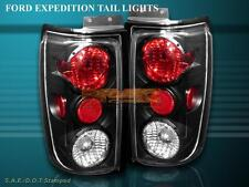 1997-2002 FORD EXPEDITION ALTEZZA TAIL LIGHTS BLACK 1998 1999 2000 2001