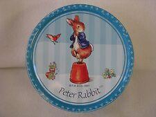 """Vintage Peter Rabbit Beatrix Potter Cookie Tins 2001 Metal 7.5"""" x 2.5"""""""
