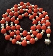 72 gramos impresionante exclama momo-coral 9.5mm real coral Necklace