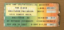 1982 THE CLASH HOLLYWOOD CONCERT TICKET STUB LONDON CALLING COMBAT ROCK TOUR 142