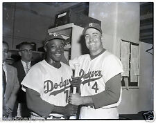 Orig. 4/5 negative Sandy Amoros Duke Snider of Dodgers WS game 5 hit for 3 HRs