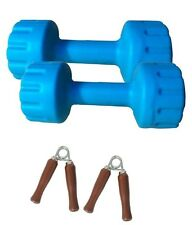 Aurion Pvc Dumbbell Set Of 5 Kg (5 Kg X 2) Perfect Home Gym And Fitness