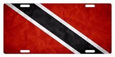 TRINIDAD & TOBAGO Flag Custom License Plate NATIONAL Emblem PAPER Version