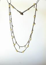 Gorgeous silver tone small freshwater perl bead clusters crystal bead   NECKLACE