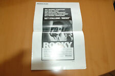 SYLVESTER STALLONE ROCKY 1976 RARE PRESS BOOK ORIGINAL