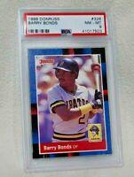 1988 Donruss Barry Bonds Pittsburgh Pirates #326 Baseball Card PSA 8