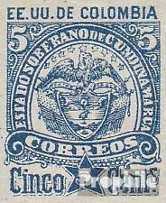 Cundinamarca 11II (complete issue) unmounted mint / never hinged 1884 Coat of Ar