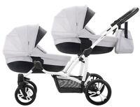 Double Stroller Bebetto 42 2in1 for twins wózek dla bliźniaków 2w1