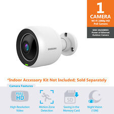 SNH-V6430BN- Samsung Full HD Wifi 1080p PoE Outdoor Home Monitoring Camera