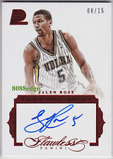 2015-16 FLAWLESS PREMIUM INK AUTO: JALEN ROSE #8/15 RUBY AUTOGRAPH PACERS/FAB 5