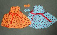 FITS 18 inch AMERICAN GIRL DOLL 2 LADYBUG DRESSES HANDMADE - Christmas gift