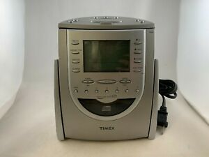 Timex Indiglo T618T AM/FM Cock Radio CD Player Snooze & Nature Sounds Tested