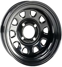 ITP BLACK DELTA STEEL WHEEL 12X7 4/137 BOLT CAN-AM KAWASAKI SUZUKI D12F537