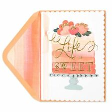 "Papyrus Happy Birthday Card (Gorgeous) ""Life is Sweet""  Retail $7.95"
