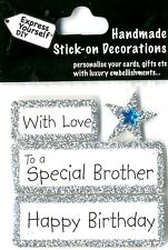 Happy Birthday With Love Special Brother DIY Greeting Card Toppers