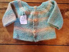 Jersey chaqueta punto bebé hecha a mano 0-6 meses