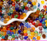 Wholesale 130pcs  8mm bicone crystal glass loose spacer Beads DIY hot