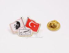 Türkei Flagge Mustafa Kemal Atatürk Unterschrift Rozeti Rozet Anstecknadel Pin