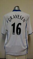 Everton Away Football Shirt Jersey 2002-2003 GRAVESEN 16 2XL XXL