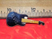 VINTAGE ELVIS BLACK GUITAR METAL HAT/LAPEL/JACKET  PIN, NEW OLD STOCK