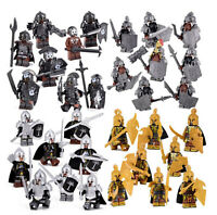 Lego Moc THE Hobbit COMPLETE SET 8 COMPANY OF DWARVES LORD OF THE RINGS URUK HAI