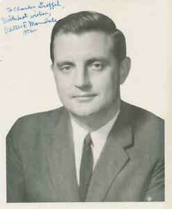 Walter Mondale- Vintage Sepia Signed Photo in 1972