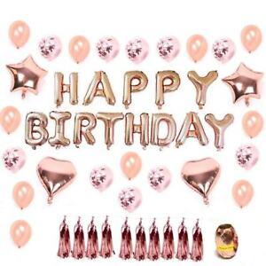 ❤ Happy Birthday Foil Balloon Set Party Heaps Colours Melb Stock Background