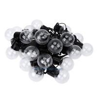Lichterkette 6M 20 LED E40 Glühbirne Glühbirnen Warmweiß Xmas Deko EU 220V IP4