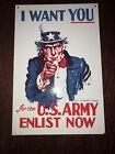 Vintage I WANT YOU Uncle Sam - Ande Rooney Porcelain Enameled Ad Sign -
