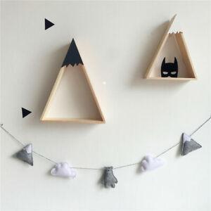 Bear Cloud Wool Felt Tent Baby Room Crib Garland Hanging Wall Nursery Home Decor