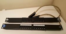AMP NETCONNECT & GigaMedia 406981-1 12 port Cat5e Rack Mount Patch Panels *TWO*