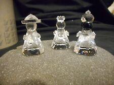 Swarovski Silver Crystal Three Wise Men Orig Packaging 7475 Nr 200 000 Austria