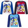 Neu Langarmshirt Jungen Mega Sonic Pullover blau grau rot 98 104 116 128 #110