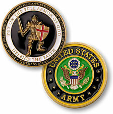 U.S. Army / Armor of God - Brass Challenge Coin
