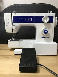 White Sewing Machine w/ Power Cord And Foot Pedal Model Number 1409 (working)